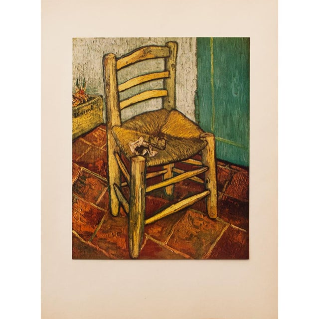 Lithograph 1950s Van Gogh's Chair by Vincent Van Gogh, First Edition Lithograph For Sale - Image 7 of 8