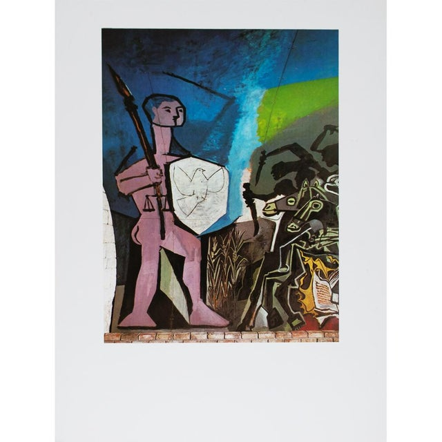 """Tipped-in plate photogravure after La Guerre et la Paix (War and Peace), 1952, by Pablo Picasso from """"Picasso"""" book..."""
