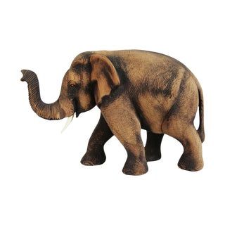 Carved Wood Elephant For Sale