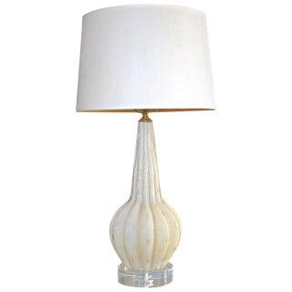 Murano Italian Champagne Gold Bubbles Table Lamp For Sale