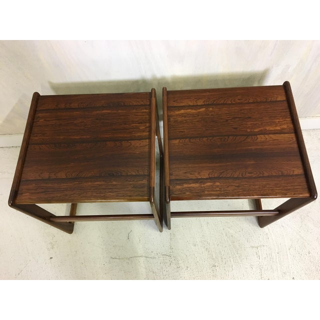 Hovemand Olsen Rosewood Nesting Tables For Sale In Boston - Image 6 of 7