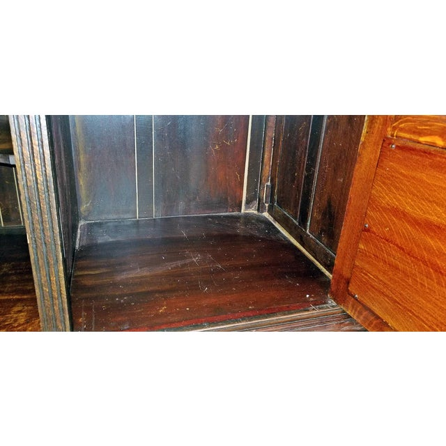 19th Century English Oak Cabinet For Sale - Image 4 of 10