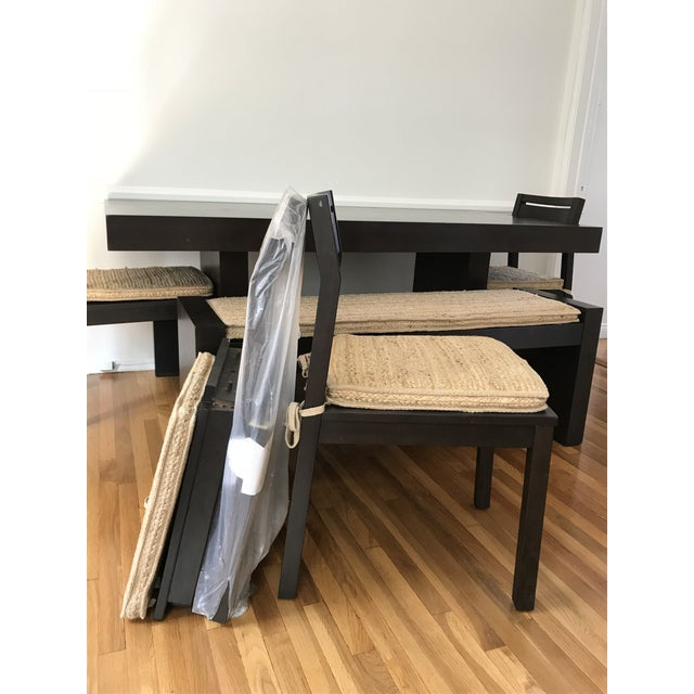 West Elm Modern Terra Dining Table Set For Sale In Los Angeles - Image 6 of 9