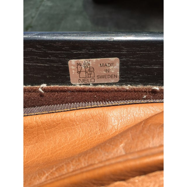 Nelo Nelo Sweden Leather Armchairs - A Pair For Sale - Image 4 of 8