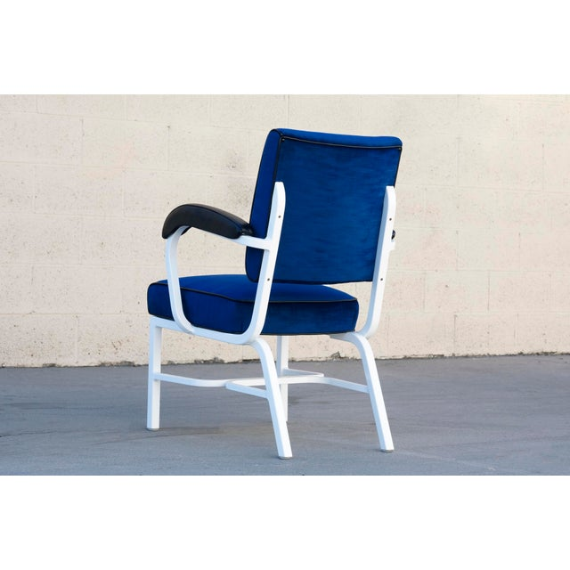 General Fireproofing Co. General Fireproofing Aluminum Tanker Armchair, Refinished For Sale - Image 4 of 6