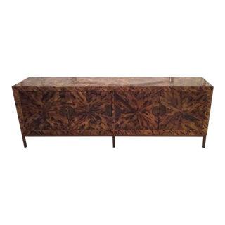 Mid-Century Modern Brass Tortoise Credenza Buffet Shell Sideboard For Sale