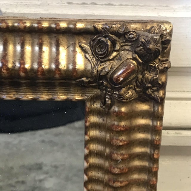 Gold 19th Century French Water Gilt Mirror For Sale - Image 8 of 11