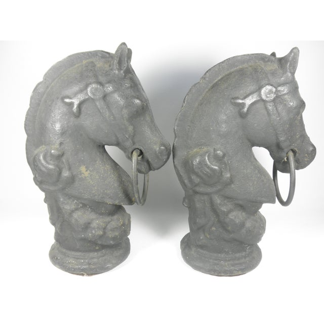 Cast Iron Horse Tethers - A Pair - Image 3 of 6