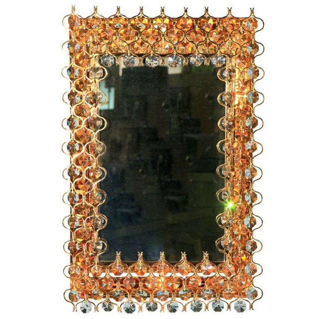 Lobmeyr Crystal & Gold Backlit Mirror For Sale - Image 9 of 9
