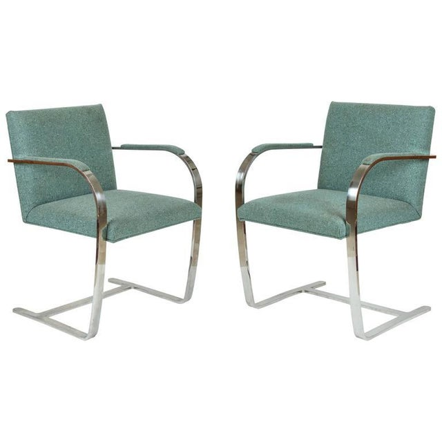 Vintage Mid Century Mies Van Der Rohe Brno for Knoll Chair- a Pair For Sale - Image 10 of 10