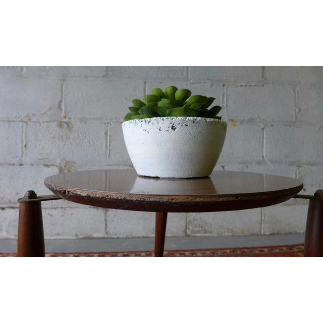 Wood Mid Century Modern Stackable Plant Stands, Set/3 For Sale - Image 7 of 8