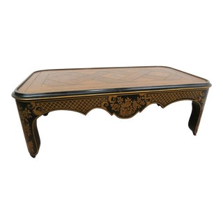 1970s Chinoiserie Baker Furniture Company Coffee Table For Sale