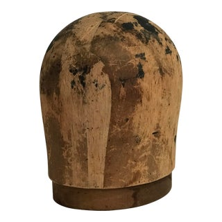 20th Century Primitive Wooden Hat Mold For Sale