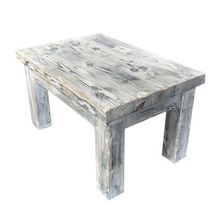 Weathered Distressed Pine Coffee Table For Sale