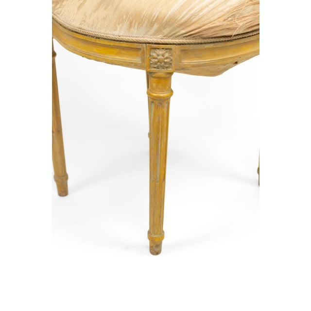 Textile French Louis XVI Lyre Side Chairs For Sale - Image 7 of 11