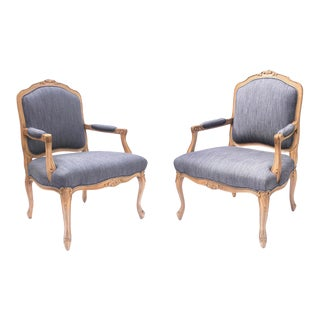 1960s Vintage Bergere Chairs- A Pair For Sale