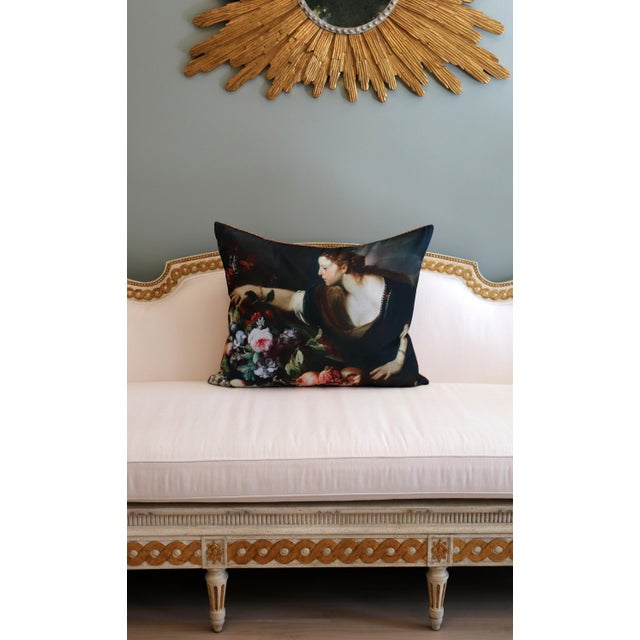 Canvas Paris Photo Pillow Italian Painting in the Louvre For Sale - Image 7 of 12