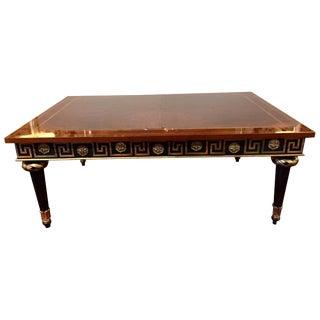 Extraordinary Regency Mahogany Ebonized & Gilded Greek Key Coffee Table For Sale