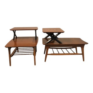 1960s Mid-Century Lane 2-Tier End Tables - a Pair For Sale
