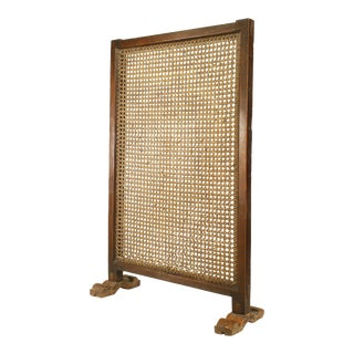 19th Century African Hardwood Framed Large Single Panel Screen on a Stand
