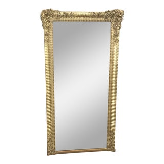 Mid 19th Century French Louis XVI Carved Gold Gilt French Mirror For Sale