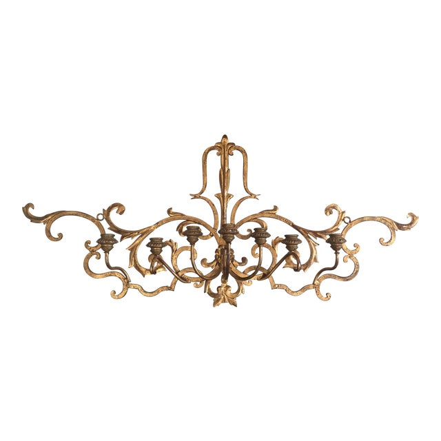 Gold Wall Mount Candelabra - Image 1 of 7