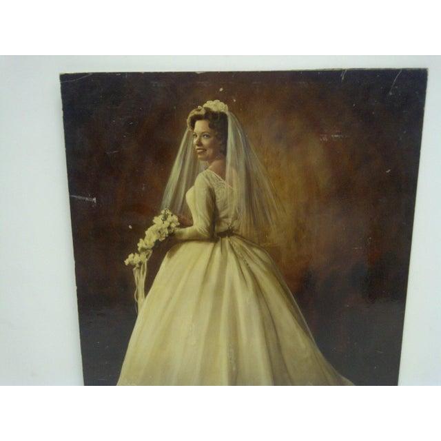 "Americana Vintage Color Photograph - ""Beautiful Wedding Dress"" - Circa 1960 For Sale - Image 3 of 5"