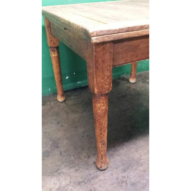 Farm House Dining Table With Leaves - Image 4 of 4