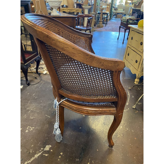 Hekman Sweet French cane chair with pad. 24 x 22 x 32