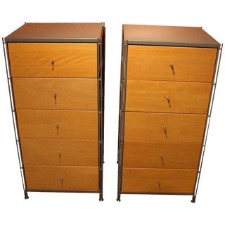 C. 1970's 5-Drawer Chests - A Pair For Sale