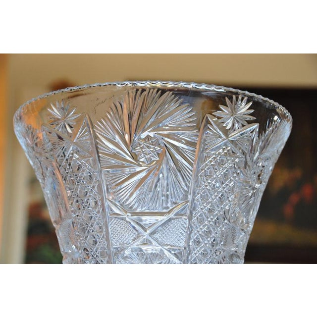Huge 37 Tall Lead Crystal Vase Chairish
