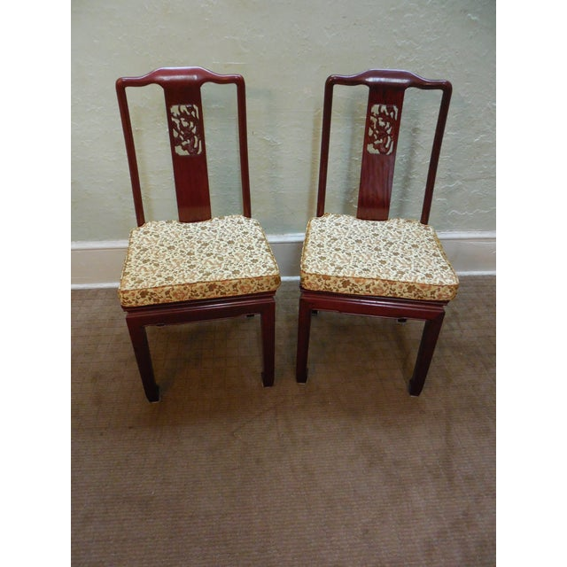 Chinese Rosewood Oriental Style Dining Chairs - 10 - Image 5 of 10
