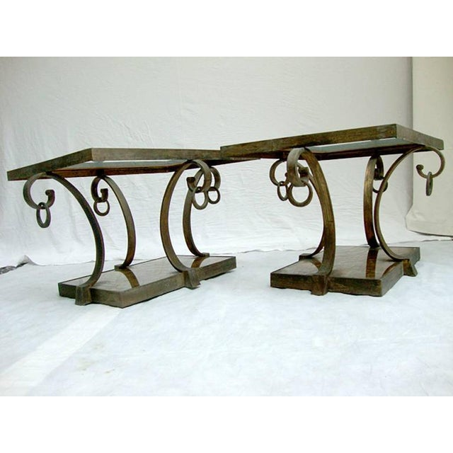 Gold Pair of Arturo Pani Brass Side Tables For Sale - Image 8 of 9