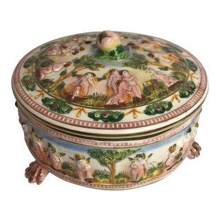 Vintage Italian Porcelain Box For Sale