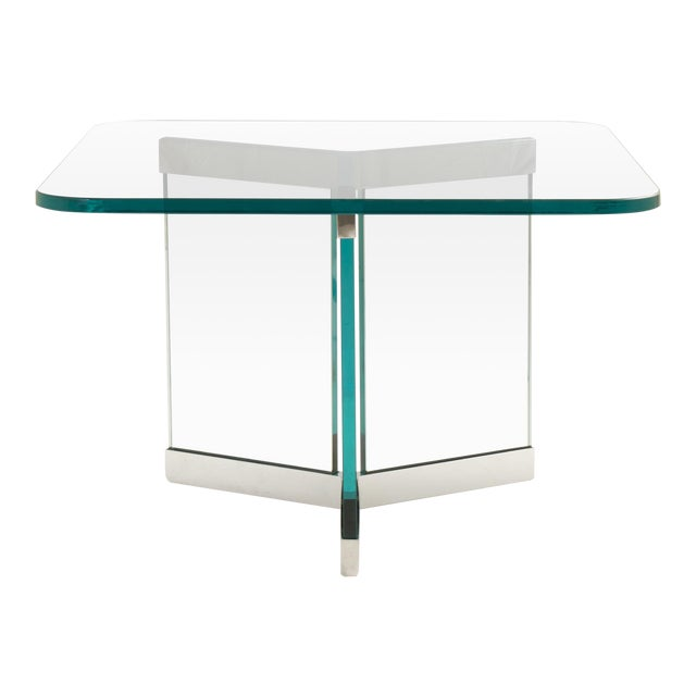 Tri-Base Glass Cocktail Table by Leon Rosen for Pace For Sale