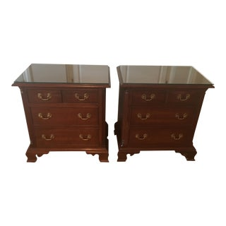Lancaster Chippendale Style Stickley Cherry Dressers - a Pair