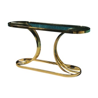Glam Brass & Glass Console Table