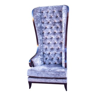 Modern Gray High-Back Chair by Christopher Guy For Sale