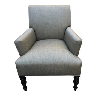 Modern Restored Contemporary Flare-Arm Club Chair For Sale
