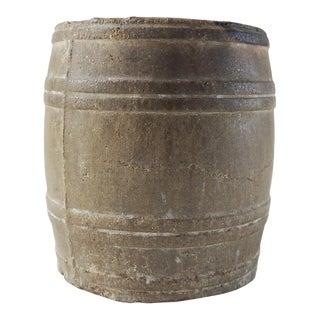Antique Barrel Shape Rustic Match Holder For Sale