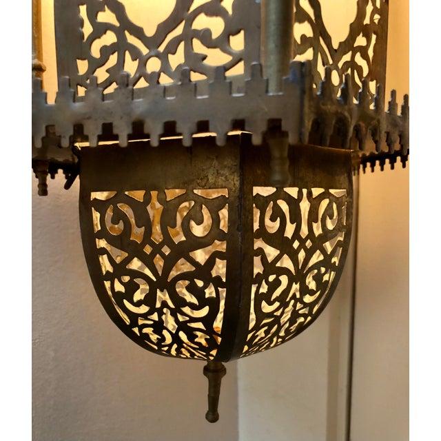 Moroccan Moroccan Moorish Hanging Lantern For Sale - Image 3 of 6
