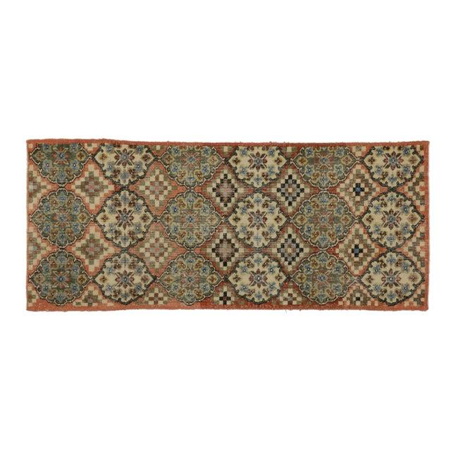 Vintage Mid-Century Turkish Zeki Muren Sivas Accent Rug - 3′ × 7′2″ For Sale - Image 4 of 5
