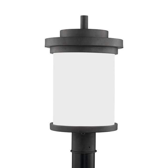 Contemporary Viola One Light Outdoor Post Lantern, Gray For Sale - Image 3 of 3