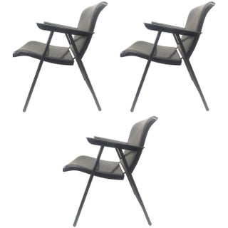 Folding Metal Chairs by Russel Wright - Set of 3