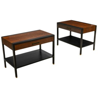 Harvey Probber Rosewood & Ebony End Tables-A Pair For Sale