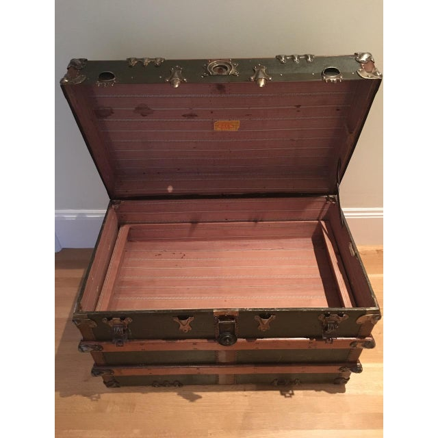 Antique English Steamer Trunk - Image 7 of 10