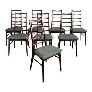 """Niels Koefoed Danish Modern Rosewood """"Lis"""" Dining Chairs- Set of 8 For Sale"""