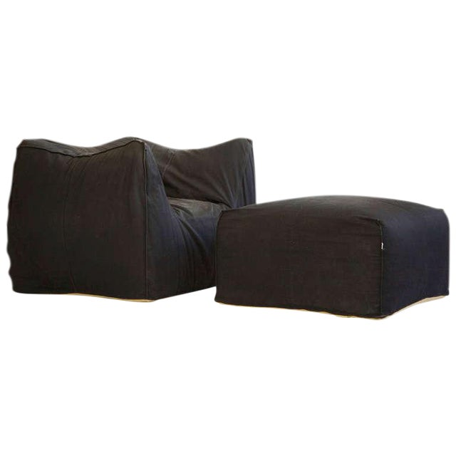 Mario Bellini Lounge Chair and Ottoman For Sale