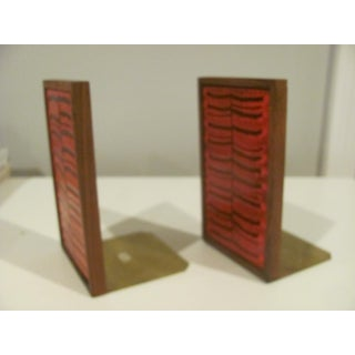 Danish Modern Rosewood and Enameled Copper Bookends - a Pair Preview