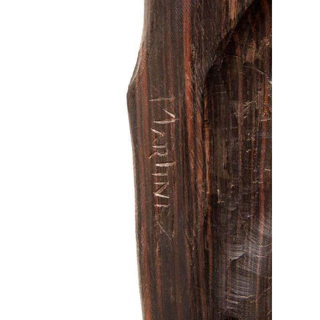Mid-Century Modern Monumental 1960s Macassar Ebony Sculpture For Sale - Image 3 of 12